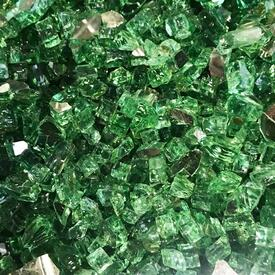 "1/4"" Evergreen Reflective Fire Glass by Leisure Select"