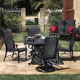 Grand Terrace Wicker Sling Dining by Gensun