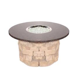 "42"" Granite Top / Stone Base Custom Fire Pit by Leisure Select"