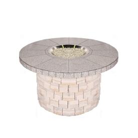 Tile Top / Stone Base Custom Fire Pit by Leisure Select