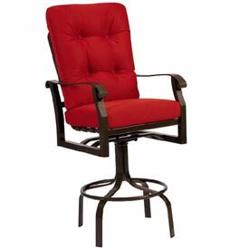 Cortland Cushion Swivel Bar Stool by Woodard
