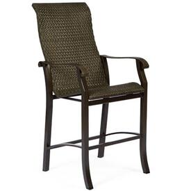 Cortland Woven Bar Stool by Woodard