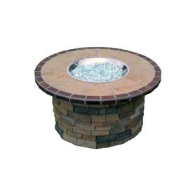 Vintage Wine Stone Fire Pit by Leisure Select