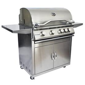 4 Burner Grill and Cart by Titan Grills