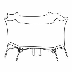 Small Oval/Rectangle Table & Chairs Cover - No Hole by Treasure Garden