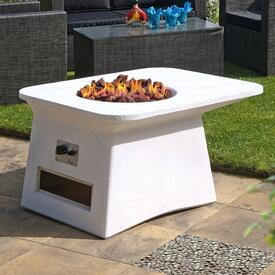 Caribou White Fire Pit by Leisure Select