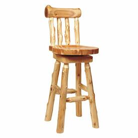Cedar Log Bar Stool by Fireside Lodge Furniture