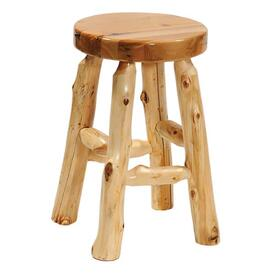 Cedar Round Counter Stool by Fireside Lodge Furniture