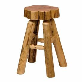 Cedar Slab Bar Stool - Inner Rest by Fireside Lodge Furniture