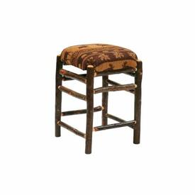 Hickory Square Bar Stool by Fireside Lodge Furniture