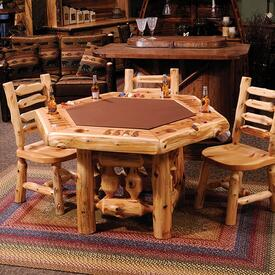 Cedar Poker Table by Fireside Lodge Furniture