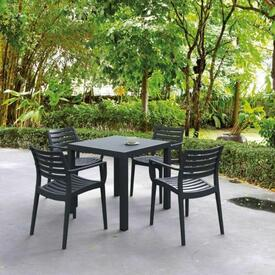 Artemis Square Armchair Dining - Black by Compamia