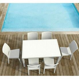 Orlando Rectangle Dining - White by Compamia