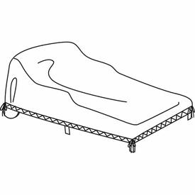 Double Chaise Lounge Water Resistant Cover by Treasure Garden