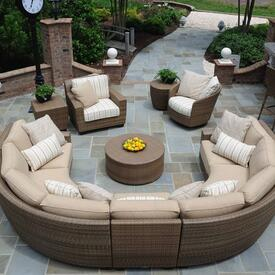 Saddleback Sectional by Woodard