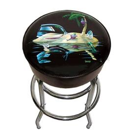 Lost In Paradise Bar Stool by Michael Godard