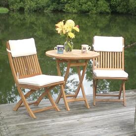 Sailor Teak Bistro Set By Royal Collection