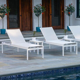 Kendall Sling Stacking Chaise Lounge by Telescope Casual