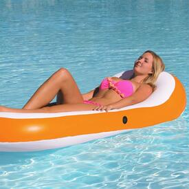 Designer Series Inflatable Chaise Lounge - Tangerine by Airhead / Kwiktek