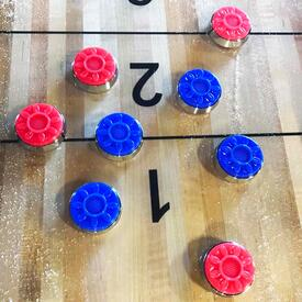 Official Shuffleboard Puck Set With Case