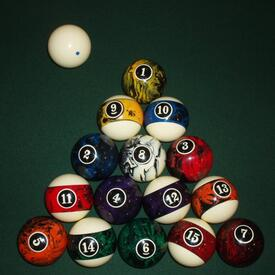 European Billiard Ball Set by American Heritage