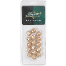 Wood Tally Balls by American Heritage