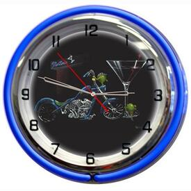 Custom Martini Wall Clock by Michael Godard