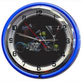 Custom Martini Wall Clock by Michael Godard