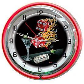 Shooting The Wad Wall Clock by Michael Godard