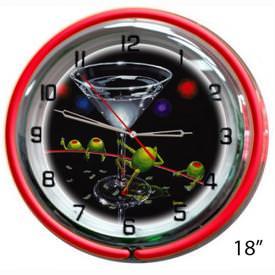 Dirty Martini Wall Clock by Michael Godard
