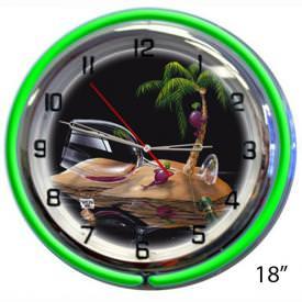 Lost In Paradise Wall Clock by Michael Godard