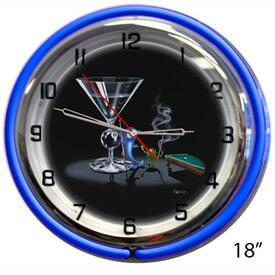 Pool Shark Wall Clock by Michael Godard