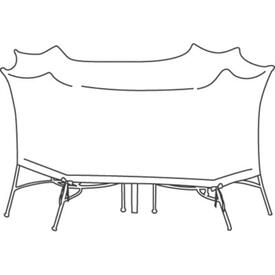 Medium Oval/Rectangle Table & Chairs Cover - No Hole by Treasure Garden