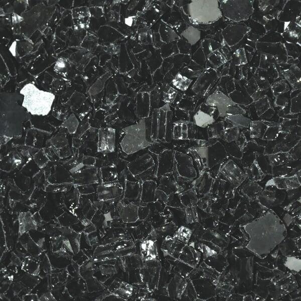"1/4"" Black Reflective Fire Glass by Leisure Select"