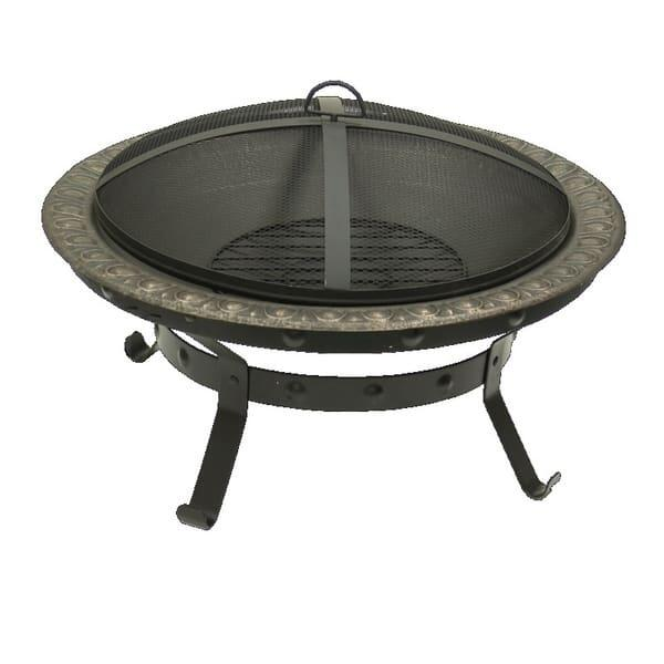 Antique Gold Wood Burning Fire Pit by Dagan Industries