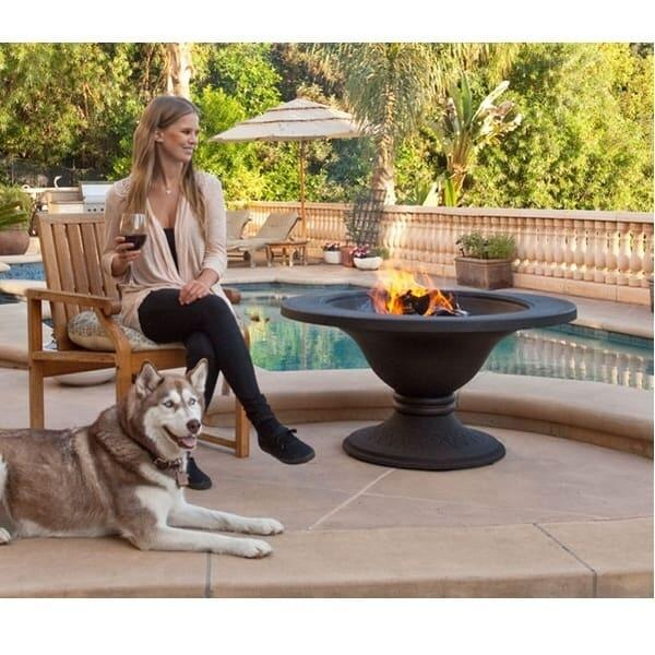 Cast Iron Wood Burning Fire Pit by Dagan Industries