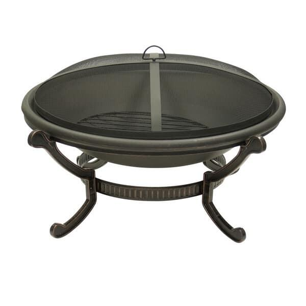 Large Round Wood Burning Fire Pit by Dagan Industries