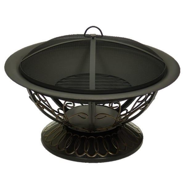 Scrolled Bronze Wood Burning Fire Pit by Dagan Industries