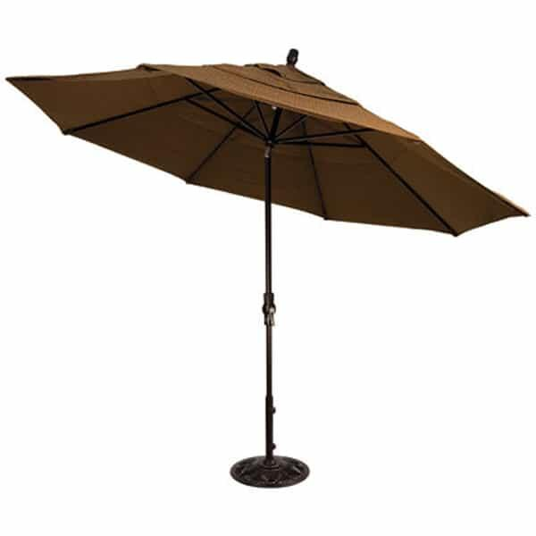 11' Collar Tilt Aluminum Umbrella by Treasure Garden