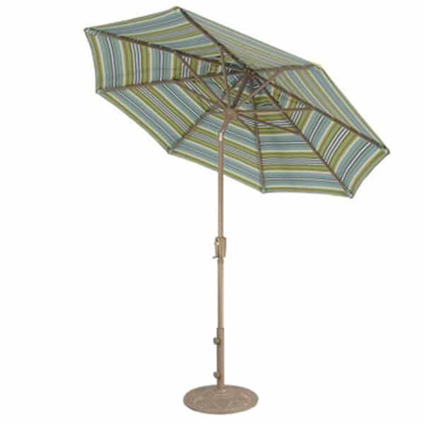 7.5' Push Button Tilt Aluminum Umbrella by Treasure Garden