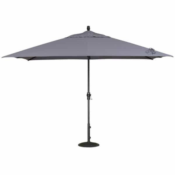 8' x 11' Crank Lift Aluminum Umbrella by Treasure Garden