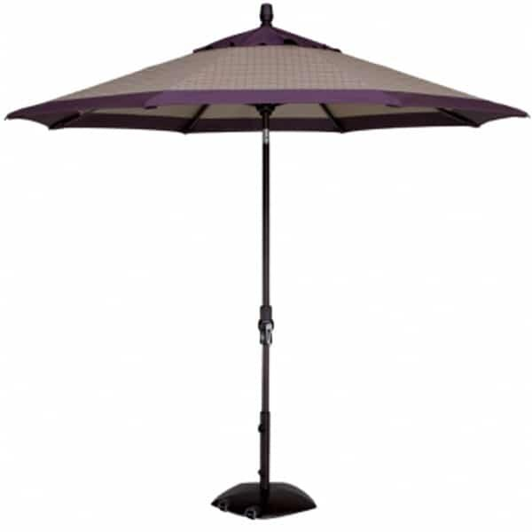 9' Collar Tilt Aluminum Umbrella by Treasure Garden
