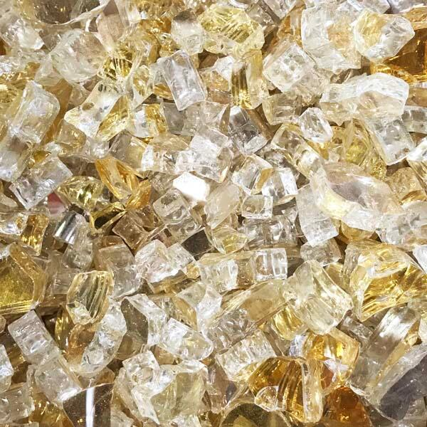 "1/4"" Gold Reflective Fire Glass by Leisure Select"