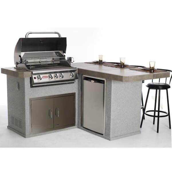 stucco furniture little q grill island stucco