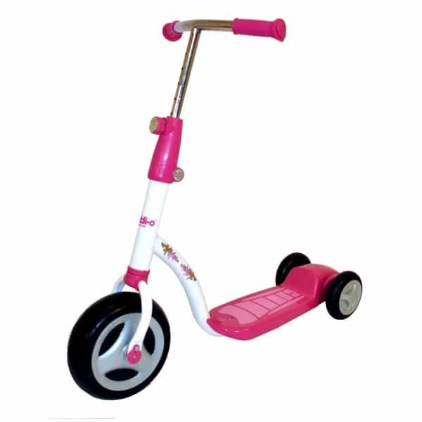 Fun Scooter with Bright Pink Colors & Adjustable Handlebars for Your Toddler