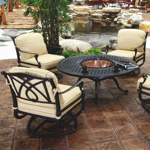 Elegant Grand Terrace   Fire Pit Set By Gensun
