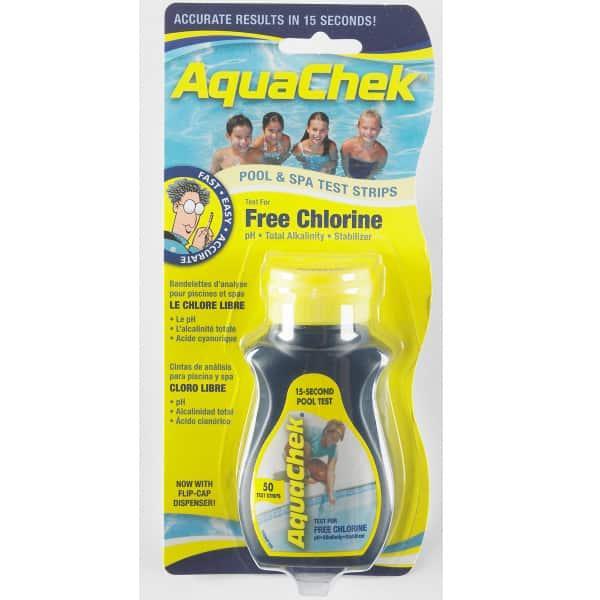 Chlorine 4 Way Pool Water Test Strips by Aquachek / Hach