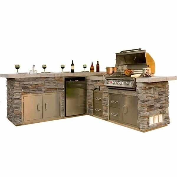 Gourmet-Q Grill Island - Stone by Bull Grills