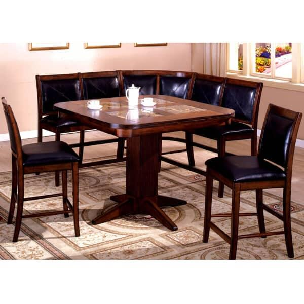 Counter Height Corner Dining Set : ... Counter Height Dining Set by Leisure Select Counter Height Dining