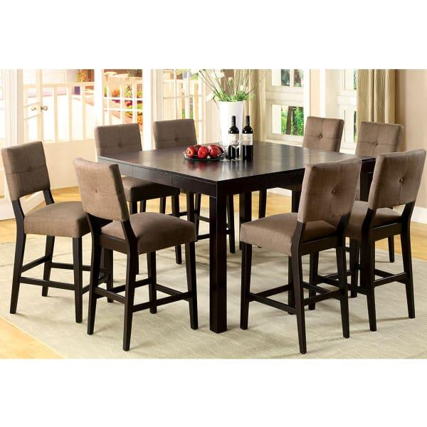 Pub Style Dining Set: Woodsburgh Counter Height Dining Set By Leisure Select